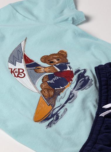 Katia & Bony Modern Marine Surf Erkek Çocuk Şort Takım  Mavi